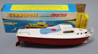 A Sutcliffe Commodore cruiser model, boxed height 32cm