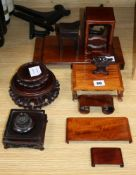 A group of Chinese hardwood stands