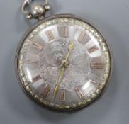 A George III silver open face key-wind pocket watch by Debois & Wheeler, London