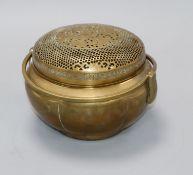 A 19th century Chinese bronze hand warmer