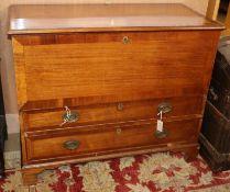 A George III mahogany mule chest W.104cm