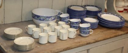 A Doulton Everyday 'Glen Ora' table service (49 pieces) and a Royal Doulton 'Angela' coffee set (