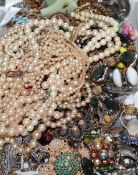A collection of mixed costume jewellery.