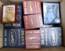 Sixteen Deans mini bears, boxed