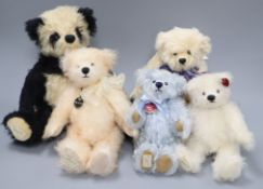 Five limited edition Deans bears, boxed