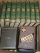 A quantity of books by Sir Walter Scott including The Waverley Novels