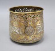 A Cairoware pot height 16cm