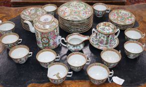 A Chinese Cantonese teaset