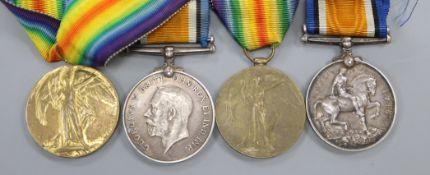 Two pairs of WWI medals