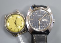 Two gentleman's wrist watches including Caravelle automatic.
