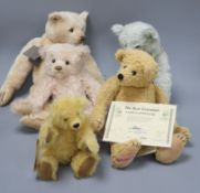 Two Artist bears, Daneila Mateise, three other Artist bears including Mother Hubbard