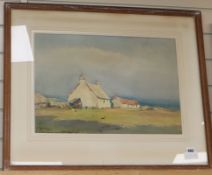 William Eggington, watercolour, A sunny day, Iona Croft, signed, Fine Art Society label verso, 35