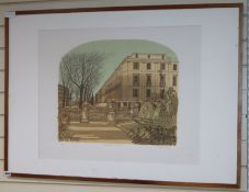 Robert Taverner, limited edition print, The Neptune Statue, Cheltenham, signed in pencil, 58 x 70cm