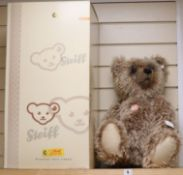 A 60cm Steiff Grizzly certificate and box