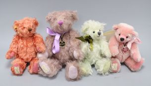 Four limited edition Deans bears, boxed