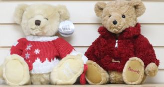 Two Harrods Christmas bears