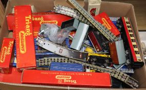 A collection of 1950s/60s Hornby OO gauge and Triang railways much boxed and mint, including Duchess