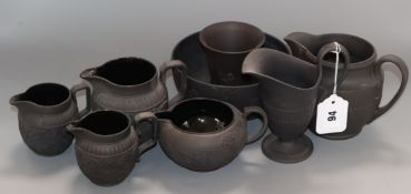 A group of Wedgwood basalt tea wares