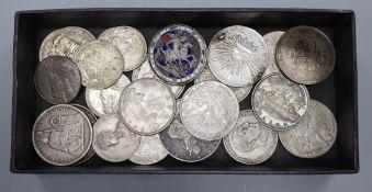 Twenty four assorted silver coins
