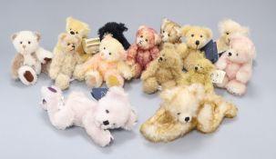 Fourteen assorted Artist bears including Hardy bears