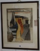 Roger Bertemes (1927-2006), limited edition print, Untitled, signed and dated '67, 5/30, 52 x 42cm