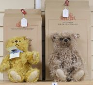 A 40cm Steiff Grizzly certificate and box, and a Golden Jubilee bear and box
