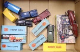 A collection of 1960s Corgi Toys and Dinky Toys, Corgi 201, 404M, 452 x2, 281, 300