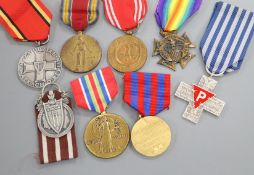 Eight WWII foreign medals
