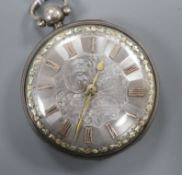 A George III silver open face key-wind pocket watch by Debois & Wheeler, London