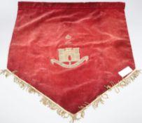 A velvet Essex Regimental banner