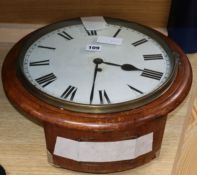 A Victorian single fusee wall clock