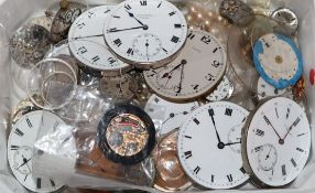 A group of assorted pocket and wrist watch movements.