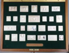 A cased set of sterling replica stamp ingots 'The Stamps of Royalty', case 35.2cm.