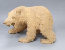 A large carved Black Forest style bear height 22cm