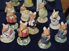Ten Brambly hedge mice characters to include: Lord Woodmouse Catking Clover Conker and four other