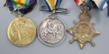 A WWI trio of medals
