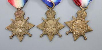 Three WWI stars