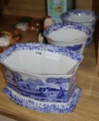 Three Spode blue and white jardinieres