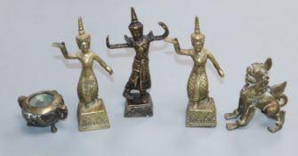 Five 20th century Thai bronzes