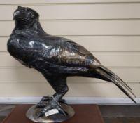 Len Clatworthy, welded steel sculpture, 'Raptor', 2008