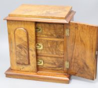 A Victorian mahogany smoker's three drawer cabinet H.31cm