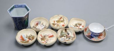 A group of Japanese miniature ceramics
