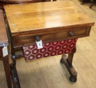 A Victorian rosewood work/card table W.60cm