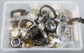 A 9ct gold chain, sundry costume jewellery and a collection of miscellaneous vintage wrist watches