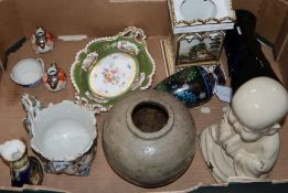 A quantity of mixed European ceramics and glass