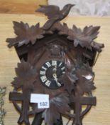 A Black Forest cuckoo clock H.38cm
