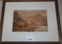 Attributed to James Bourne (1773-1854) - two watercolours, lakeland scenes, largest 18 x 26cm