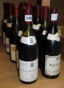 Two bottles of Givry Premier Cru 1989, two bottles of Santenay, 1978, one bottle of Beaune-