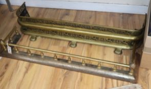 Two 19th century brass fenders