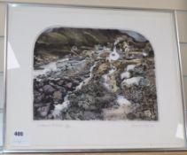 Graham Clarke, colour aquatint, 'Crabbers Retreat' 12/350, signed in pencil 37 x 45cm